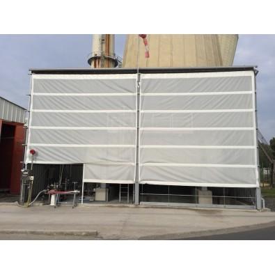 Occultation de bâtiment  avec grille micro perforée