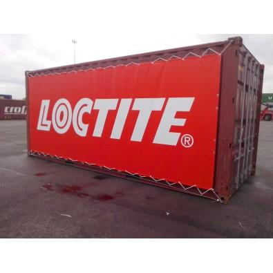 Bâche tendue sur container