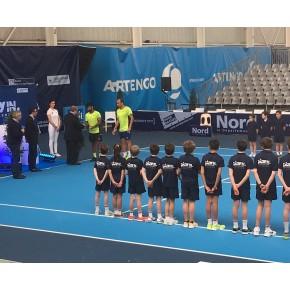 Gradin Tribune tournoi de tennis avec pub nord baches