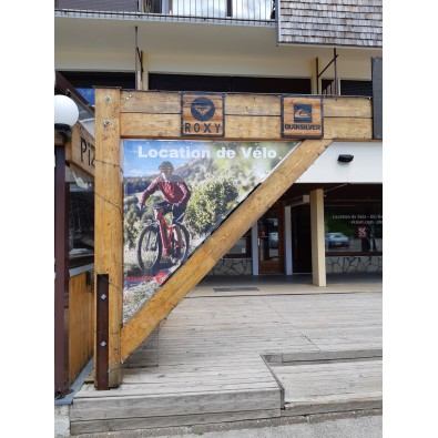 Forme triangulaire pour ce calicot sportif