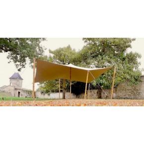 Kit complet d'une Tente Stretch Nomade Hexagonale de 42m2