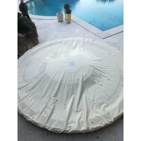 Bâche de spa de forme circulaire