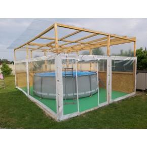 Protection originale pour une piscine hors sol