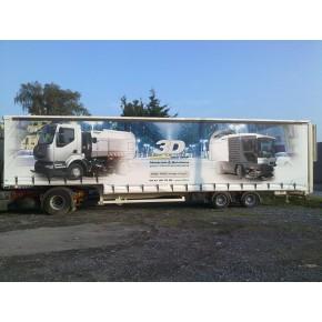 Impression rideaux coulissants camion
