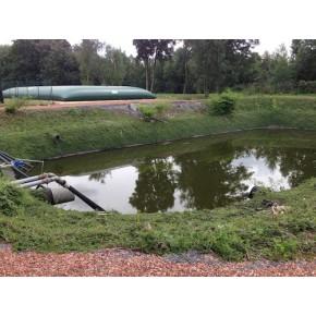 Bassin de rétention hors d'usage , bâche à remplacer