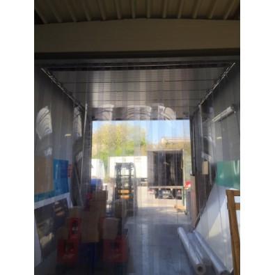 Porte à lamelles pour atelier