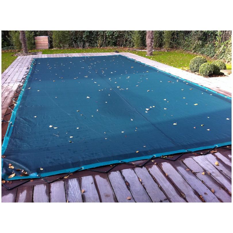 Bache de piscine d 39 hivernage en grille nord b ches - Filet d hivernage piscine ...