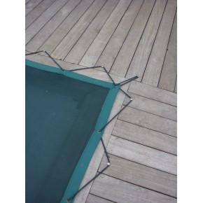 Bache de piscine en grille micro perforée