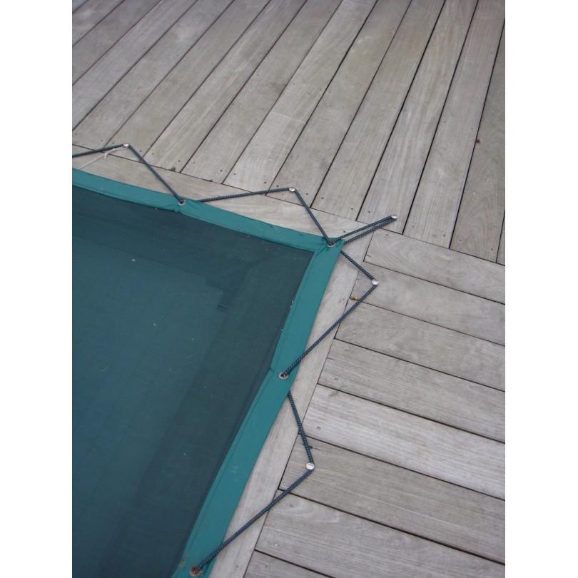 Bache de piscine d 39 hivernage en grille nord b ches for Bache hivernage piscine