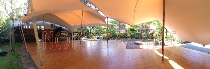 Assemblage de plusieurs tentes stretch